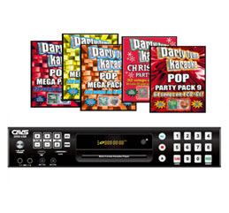 CAVS 205G USB Karaoke Machine + 480 Golden Songs of Party Tyme in 32 CD+G discs